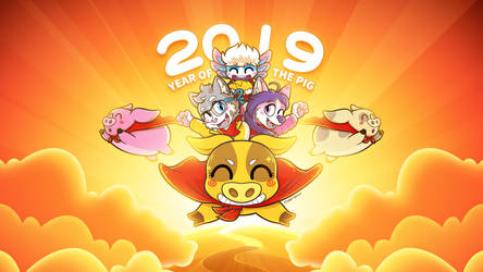 2019 Happy Year of the Pig! (4K)