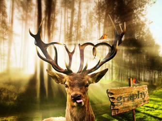 Deer Typo by canozdogan