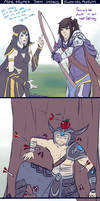 Ashe teaches Talon archery