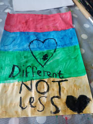 different not less