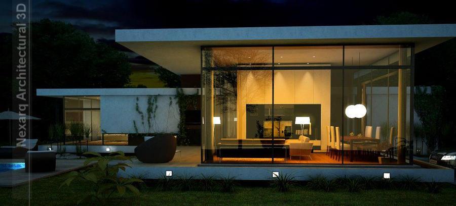 Superior Exterior Render, Night View By Nexarq3D ...