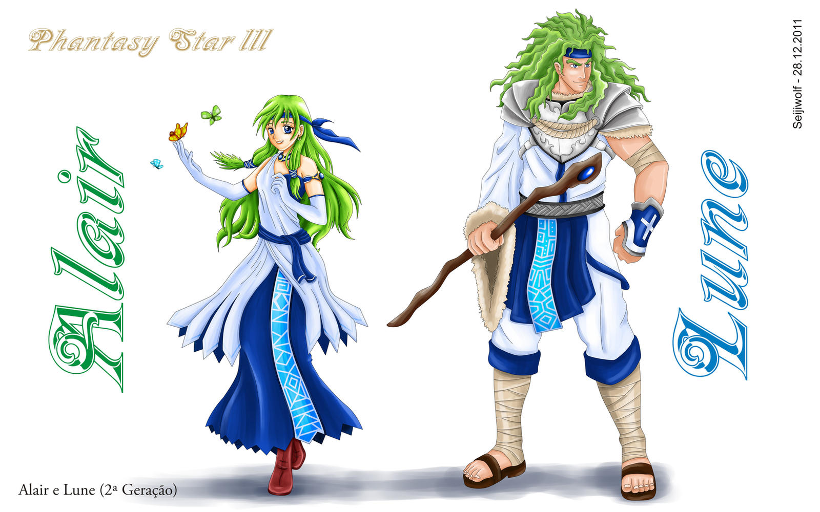 Alair e Lune - Phantasy Star 3 by seijiwolf