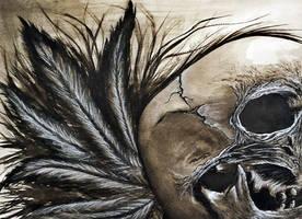 Watercolor Skull by MetalMonsterDSN