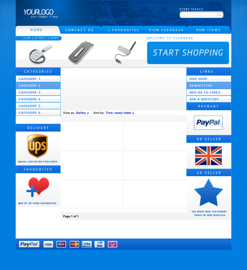 Blue ebay template by dfiantt on deviantart for Ebay ad template