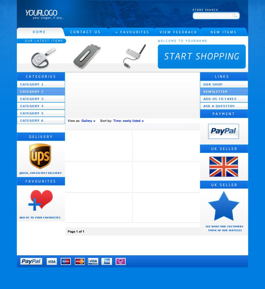 Online shopping websites like ebay