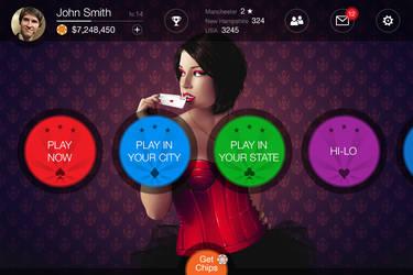 Poker dark UI by monterxz