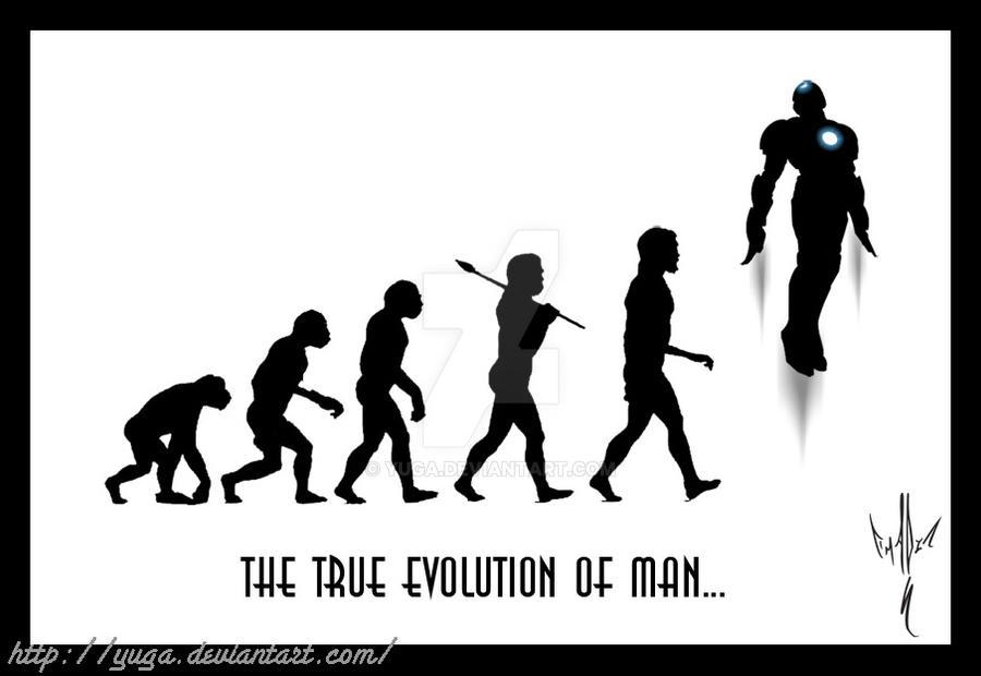the true evolution of man