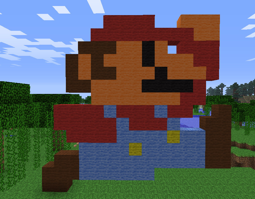 Elegant Minecraft Mario Pixel Art By NitroTHArt ...