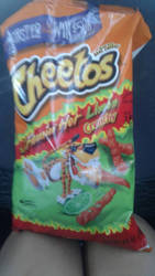 Eating hot cheetos right now ) by KingShinyGroudon100