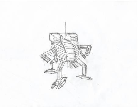 Sketch of a Tripod Battle Mech