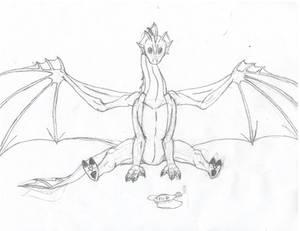 Aquatic Dragon Offers You a Fish