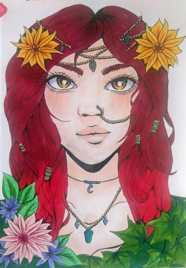 Flower Child by CaffeineFueledCanvas