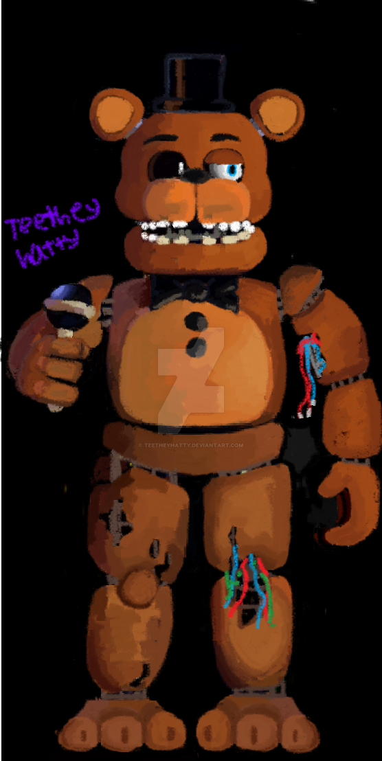 FnaF-Drawing] Fullbody Withered Freddy :D by Teetheyhatty on