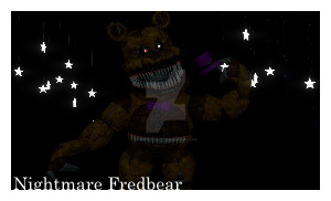 [Fnaf-Stamps] Nightmare Fredbear Stamp! by Teetheyhatty