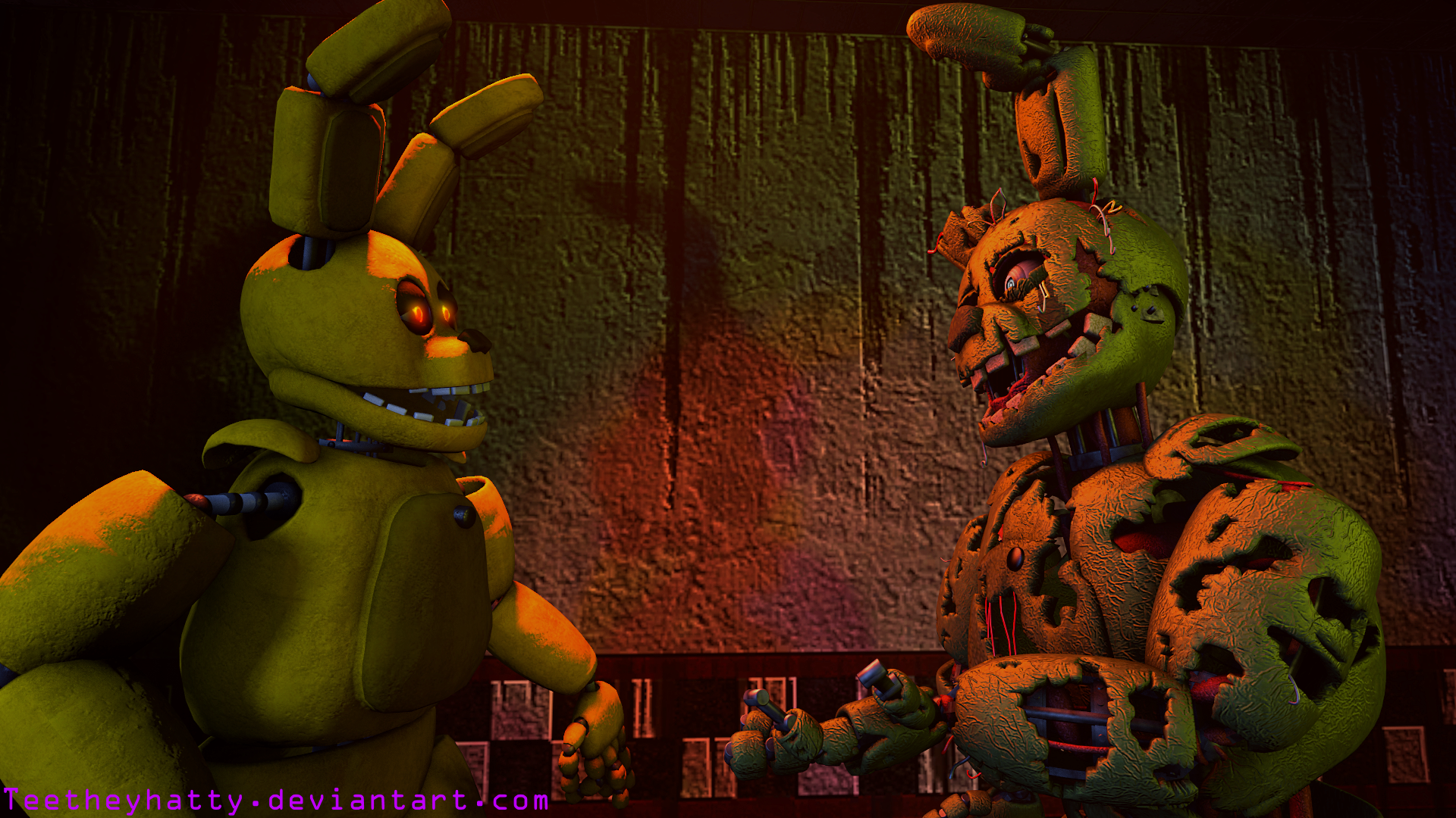 Fnaf sfm poster request one in the same by teetheyhatty on