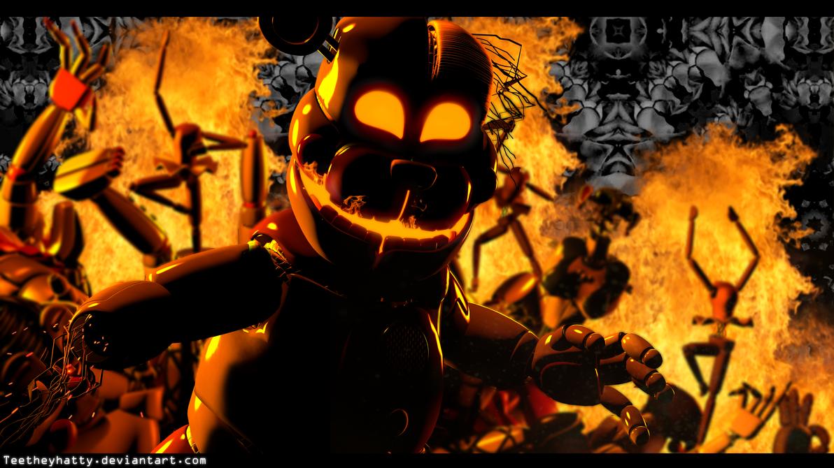 [FnaF-Sfm Poster] Electrical Fire by Teetheyhatty