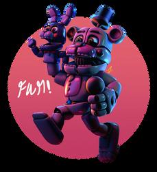 [FnaF-Sfm Poster] Oh birthday boy! by Teetheyhatty