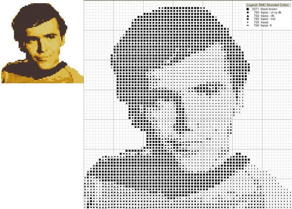 Chekov Cross Stitch Pattern