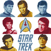 Star Trek TOS Cross Stitch Patterns by black-lupin