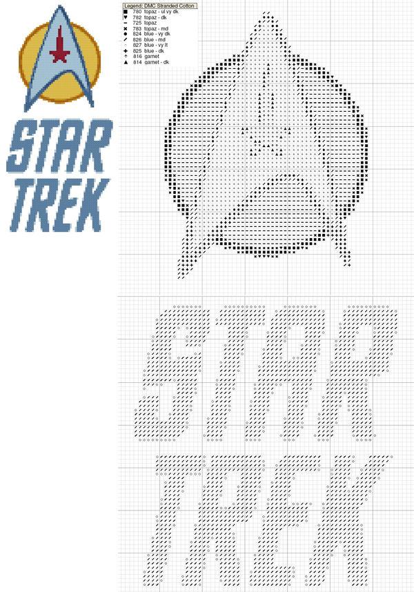 Star Trek Logo Cross Stitch