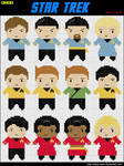 12 Mini Star Trek Cross Stitch