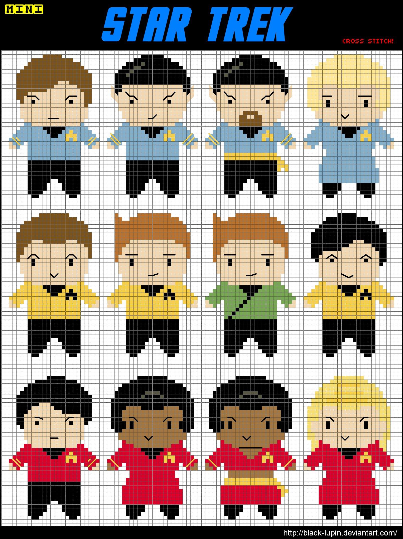 12 Mini Star Trek Cross Stitch by black-lupin on DeviantArt