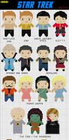 19 Mini Star Trek Cross Stitch