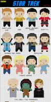 19 Mini Star Trek Cross Stitch by black-lupin