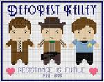 DeForest Kelley Cross Stitch