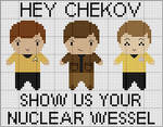 Pavel Chekov Cross Stitch