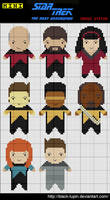 Mini StarTrek TNG Cross Stitch