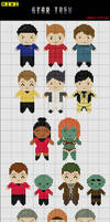 Star Trek XI Mini Cross Stitch Patterns