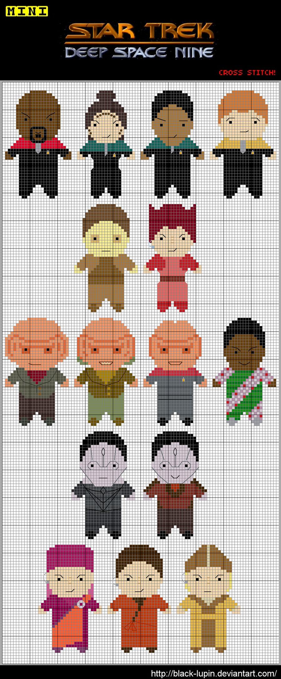 Star Trek DS9 Cross Stitch