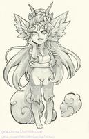 Chibi Pencil Drawing Commission:  Koharu  [3/9] by Gaz-Monster