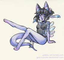 Full color commission: Maegwen by Gaz-Monster