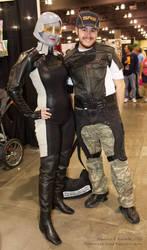 Mass Effect - Joker Moreau and EDI cosplays