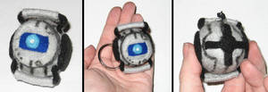 Wheatley plush keychain