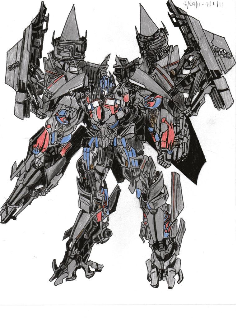transformers revenge of the fallen optimus prime jetfire