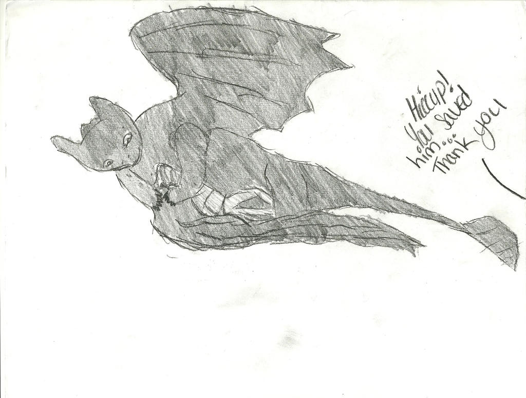 HTTYD-Toothless Saves Hiccup by Cairue12 on DeviantArt