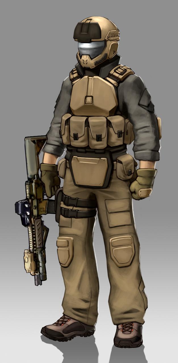 Sci fi Modern Soldier by G-Wolfe