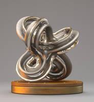 Titanium - Platinum Sculpture by ViraA