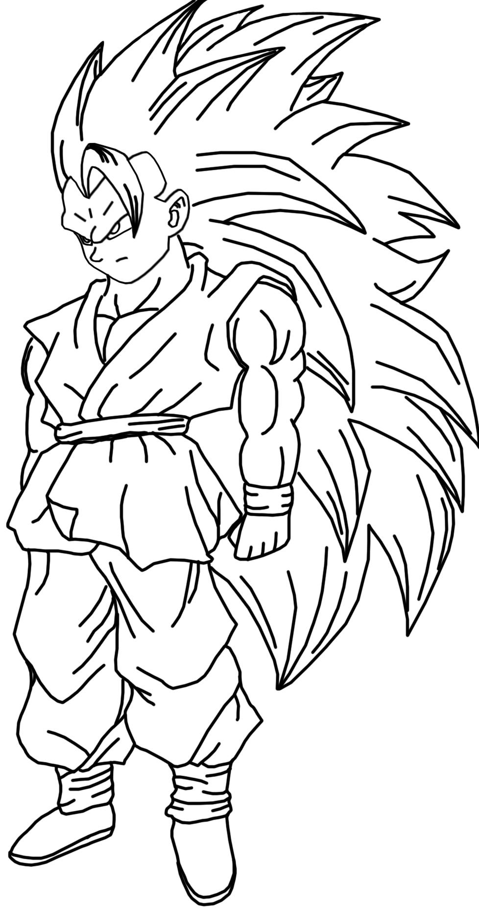 Goku Super Saiyan 5 Para Colorear Traffic Club