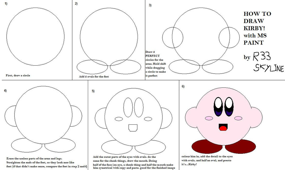 How to draw kirby with MSpaint by R33Skyline on DeviantArt