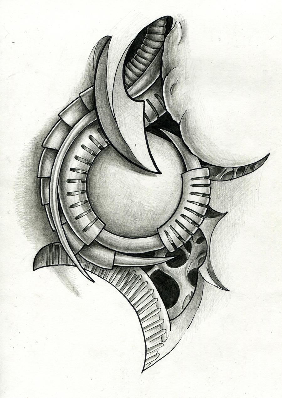 biomech tattoo flash by ignitron on deviantart. Black Bedroom Furniture Sets. Home Design Ideas