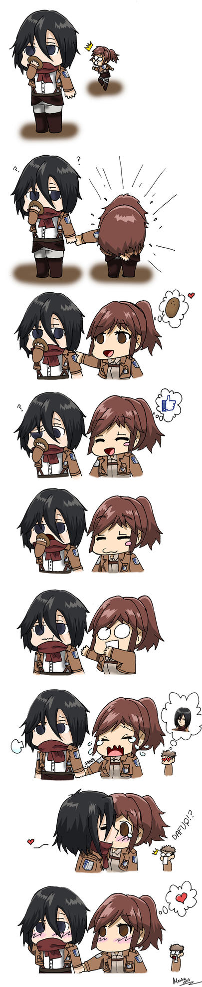 Shingeki no Kyojin(Attack on Titan) - Page 6 Give_me_that_potato__mikasa_x_sasha__by_mrne93-d6pxh1t