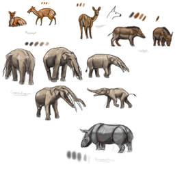 Somosaguas fauna sketches II by unlobogris