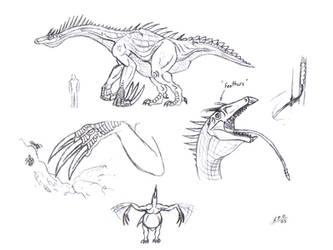 Therizinosaur of Skull Island by unlobogris