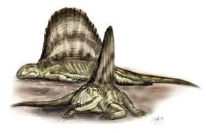 Dimetrodon resting by unlobogris