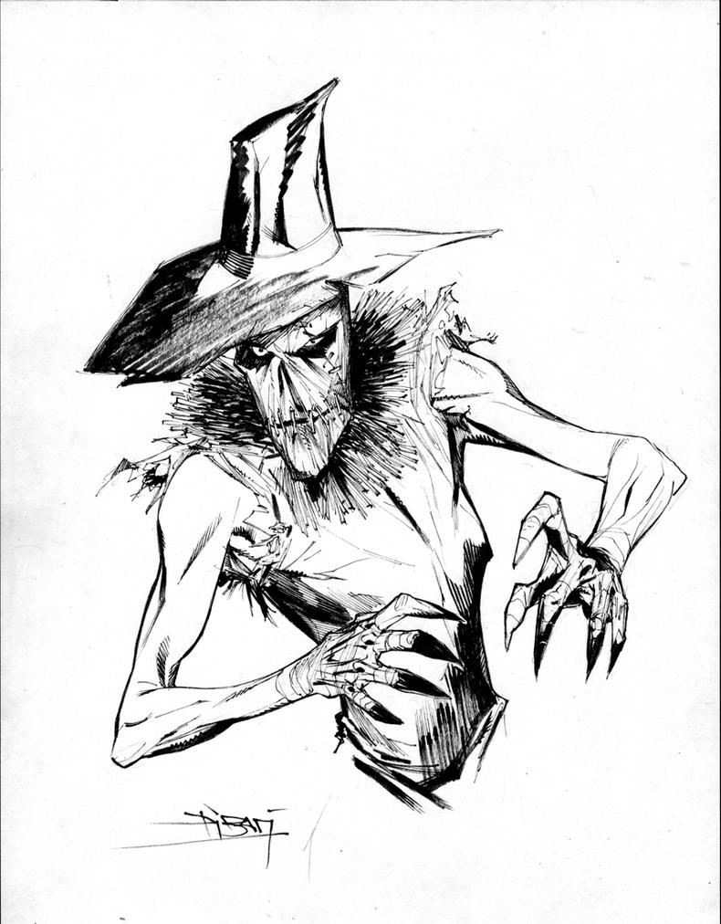 Dark Scarecrow Drawing by Dark Scarecrow Drawing