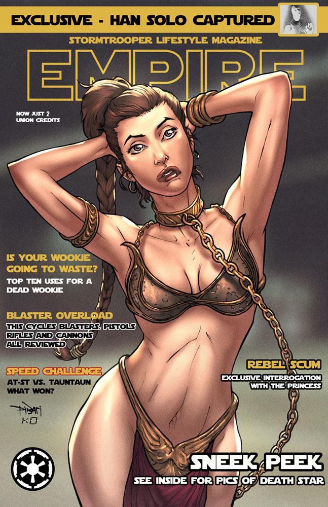 SlaveGirl Starwars Print ver 2 by ChristianDiBari